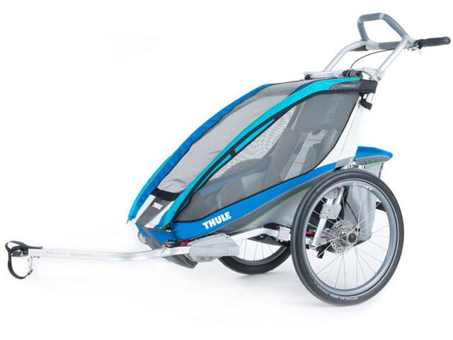 Thule Chariot CX 1 + Fahrradset blau